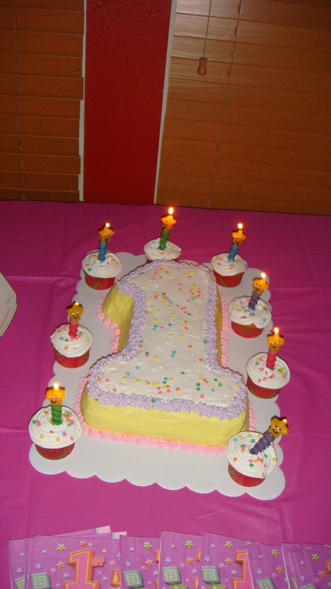 1st Year Birthday Cake Baby Cakes